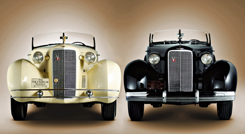 1934 Cadillac Roadster 5802 and 1937 Phaeton 5859